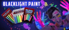 BLACK LIGHT PARTY SUPPLIES