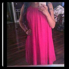 Beautiful pink double layer chiffon midi dress Beautiful Boutique pink , double layered chiffon,  spaghetti strap midi dress Dresses Midi