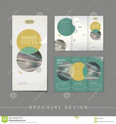 graphic design brochures with circle elements - Google Search