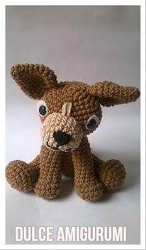 Canelo el Perro Chihuahua de Dulce Amigurumi