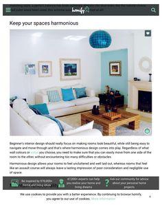 Homify Reino Unido | Fevereiro de 2016 O destaque da Revista Homify no Reino Unido, também foi para o projeto já muito referido, com a sugestão de se manterem os espaços harmoniosos.