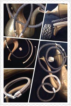 Gly FORTUNE Wire Jewelry, Washer Necklace, Knots, Jewelry Making, Hoop Earrings, Chain, Bracelets, Jewelry Ideas, Silver