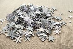 Winter Wonderland Confetti - Snowflake Table Decorations, Winter Wedding Decor. $14.00, via Etsy.