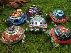 Turtle Mosaic Sculptures