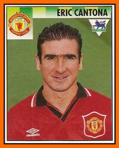 Eric Cantona at Manchester United, Football Icon, Best Football Players, World Football, Soccer Players, Eric Cantona, Manchester United Football, Football Stickers, Football Cards, Man Utd Fc