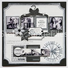 2 pages pour Brode en Scrap Album Photo Scrapbooking, Mixed Media Scrapbooking, Scrapbooking Layouts, Mix Media, Heritage Scrapbook Pages, Scrapbook Templates, Layout Inspiration, Page Layout, Scrapbooks