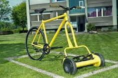 Resultado de imagen para bicycle lawn mower