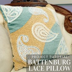 Add Battenburg lace to a pillow with this tutorial from Embroidery Library.