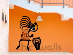 Premium Custom Made Tribal African Drummer by ChicWallsDesign