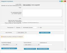 Kategorien über CSV-Datei importieren