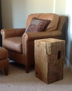 barn beam projects | barn beam side table