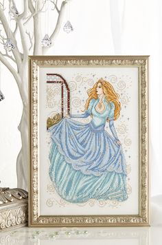 Cinderella spectacular: Joan Elliott's second fabulous chart in our festive special, stitch Cinderellla in a sumptuous gown. Find it on page 27 of our November 242 issue of Cross Stitch Collection: http://www.crossstitchcollection.com/find-us/