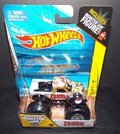 Hot Wheels Monster Jam ZOMBIE w/ Figure NEW MIP! #HotWheels