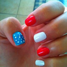 July 4th Nails