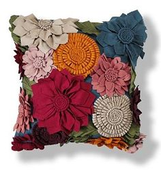 Flower Pillow • love the look of this cushion. It's for sale so no further information available.