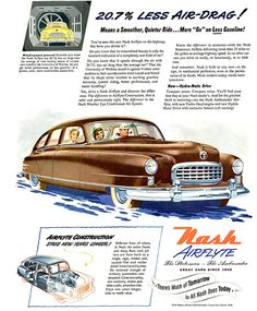 Nash Airflyte Statesman Ambassador Air-Drag - Mad Men Art: The 1891-1970 Vintage…
