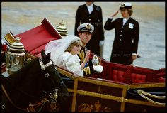 Prince Charles Married Diana | Prince Charles and Princess Diana leave St. Paul's Cathedral following ...