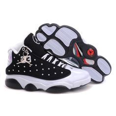 Air Jordan Retro 13 Shoes Black White half off