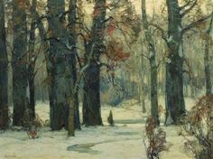 """""""Winter Woodland,"""" John Fabian Carlson, oil on canvas, 30 x 40"""", private collection,"""