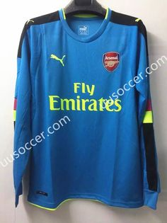 c89c91d47 ... uusoccer provides cheap and quality 2016 17 arsenal goalkeeper blue ls thailand  soccer jersey aaa 2013