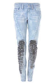 Studded Mango Jeans (Glamour.com UK)