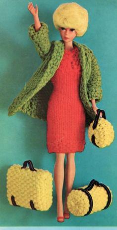 Traveling suite barbie doll dress knitting pattern by Vandihand