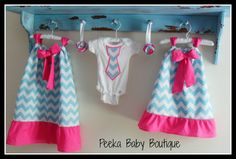 Matching Sibling Outfit Set with 2 dresses 2 by PeekaBabyBoutique, $65.00
