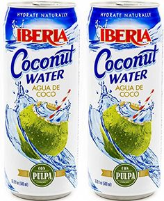 Iberia Coconut Water with Pulp, 16.9 fl oz, Agua de Coco con Pulpa (2 cans) >>> Be sure to check out this helpful article.