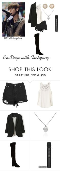 """""""BTS Inspired: On Stage with Taehyung"""" by bts-inspired ❤ liked on Polyvore featuring Boohoo, RVCA, Tiffany & Co., Nine West and Kate Spade"""