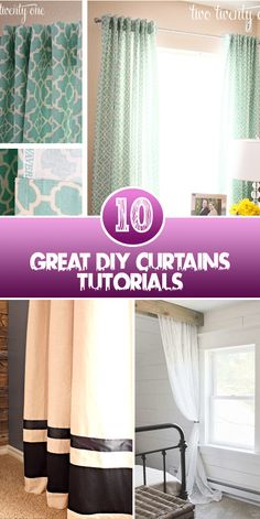 Great DIY Curtains Tutorials Curtains are the basic household thing in every house but, you can organize there simple curtains and give them an elegant look to boost your decor. Here are the list o…