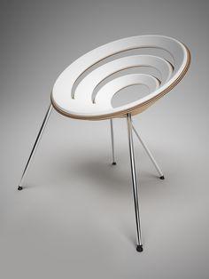Plywood chair By Filip Velehradský, on Designeros.com #designeros