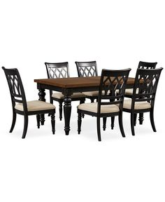 1399 from Macys Bradford Dining Room Furniture 7 Piece Set Round