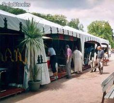 Tiendas árabes al por mayor, llamadas jaimas árabes.