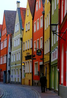 Coloured Houses - cheerful streetscape