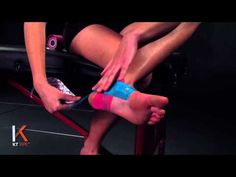 Ankle Stability KT taping instruction video- KT Tape provides support that is very comfortable and allows you to have a greater range of motion. This application also helps to provide support without limiting your range of motion or decreasing your blood flow.