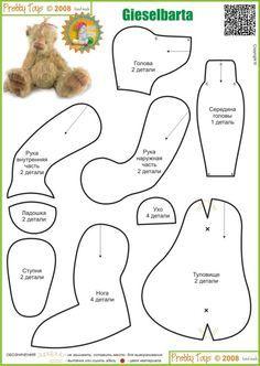 steiff teddy bear pattern - Recherche Google
