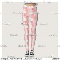 Springtime Pink Patchwork Leggings