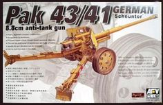 German PaK 43/41 Scheunter, 8.8cm anti-tank gun. AFV Club, 1/35, initial release 2003, No.AF35059. Price: 28,90 EUR (marketplace).