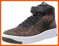 Nike Men's AF1 Ultra Flyknit Mid Black/Bright Crimson/Crt Prpl/Vlt Basketball Shoe 8 Men US - Our favorite sneakers (*Amazon Partner-Link)