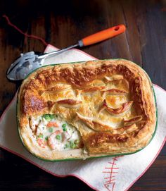 Smoked fish and cider pie recipe. Try this variation on the traditional fish pie with smoked fish and cider and a puff pastry lid. Best Fish Pie Recipe, Quiches, Tart Recipes, Cooking Recipes, Yummy Recipes, Smoked Fish, Cottage Pie, Delicious Magazine, Pizza
