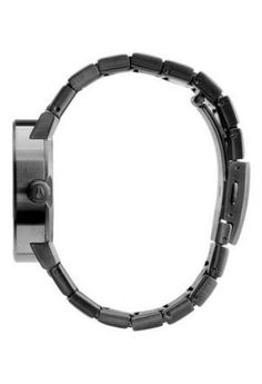 NIXON WOMENS GUNMETAL BLACK WATCHThe Nixon Cannon gunmetal slate black watch is a contemporary classic. Pair this brushed charcoal watch with a chic sheepskin or Little Black Dress for the perfect completed outfit. Contemporary Classic, Stainless Steel Watch, Cannon, Fashion Watches, Bracelet Watch, Quartz, Mens Fashion, Band, Crystals