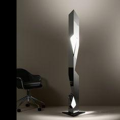 BILBAO - Lampadaire halogène Aluminium poli H186cm de Majo