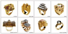 Architectural rings inspired by cities & buildings around the world –– Philippe Tournaire