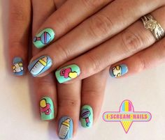 C. Baby Nail Art, Baby Nails, Baby Shower Nails, I Scream, Shower Favors, Best Makeup Products, Activity Ideas, Instagram Posts, Nailart