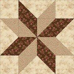 "Sarah's Choice Quilt Block Pattern - 4"", 6"", 8"" & 12""  Quilt Block Patterns by Cloud9"