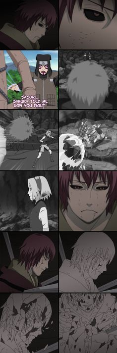 Sasori remembering his fight against Sakura before being sealed away.