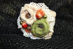 Crochet bracelet,  Summer Braselet, Textile Jewelry