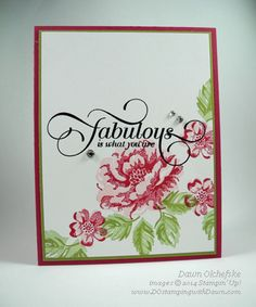 QC: Fabulous Stippled Blossoms, Catalog & Retired List updates - DOstamping with Dawn, Stampin Up! Demonstrator