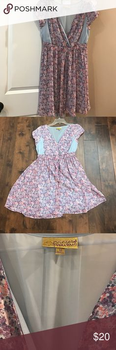 NWOT Gorgeous Princess By Vera Wang Dress Colorful and simple Princess Vera Wang Dress in lavender, pink, and light blue! Perfect for the spring! Vera Wang Dresses