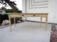 FRENCH PROVINCIAL Shabby Chic Large Desk or Table by HouseCandyLA